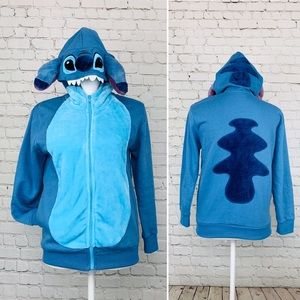 Disney Parks Stitch hoodie costume zip up sweater